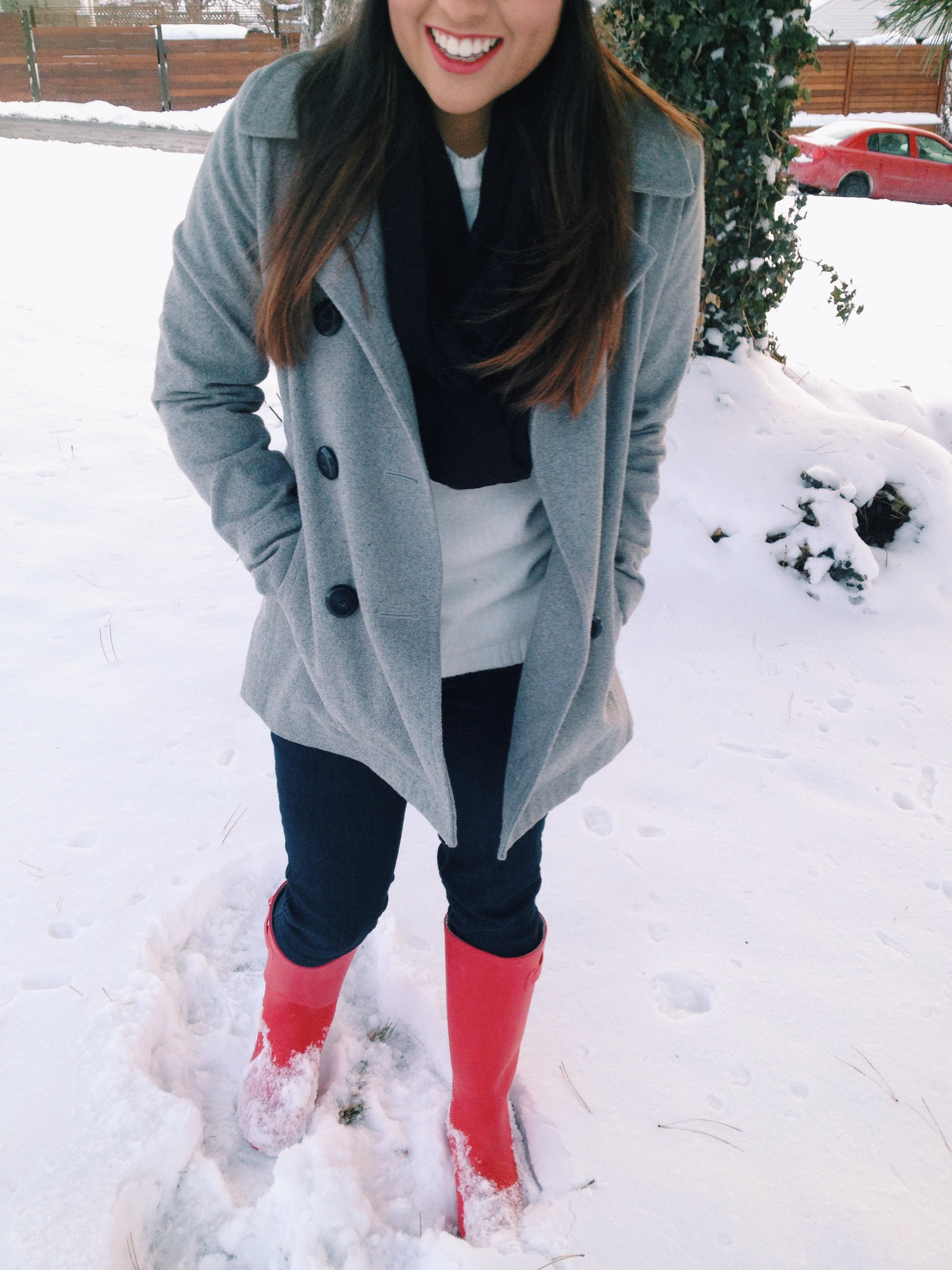 Snow Day Outfit | petite and penniless